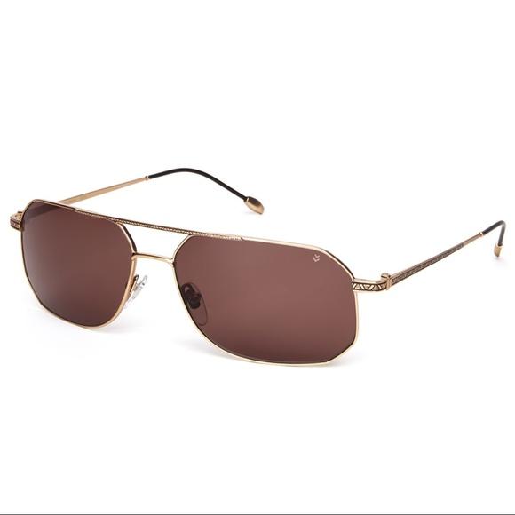 aef0378dd2 John Varvatos V776 Sunglasses Gold